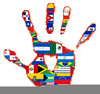 Spanish Speaking Countries Flags Clipart Image