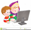 Grandma With Grandson Clipart Image