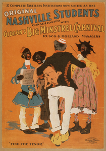 Original Nashville Students Consolidated With Gideon S Big Minstrel Carnival Image