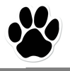 Free Paw Print Outline Clipart Image
