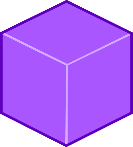 purple 3d cube clip art at clker com vector clip art online rh clker com cube clip art black and white free clipart cube