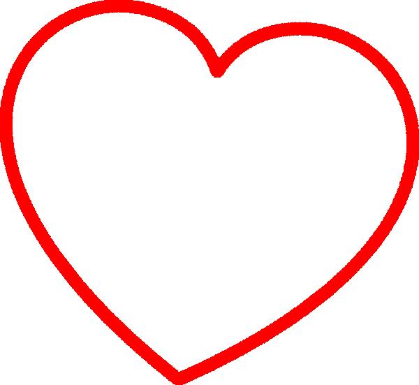 Red Outline Heart 7degree Clip Art at Clker.com - vector ...