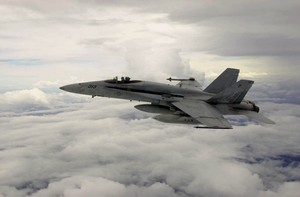 An F/a-18c Hornet Patrols The Skies Image