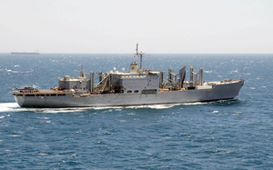 The Military Sealift Command Combat Stores Ship Usns Niagara Falls (t-afs 3) Is Currently Deployed To The Middle East Image