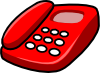 Red Telephone Clip Art