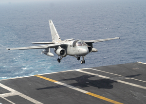 An S-3b Viking From Assigned To The  Scouts  Of Sea Control Squadron Twenty Four (vs-24) Lands On The Flight Deck Of Uss Theodore Roosevelt (cvn 71). Image