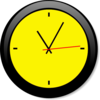 Clock Yellow A Image