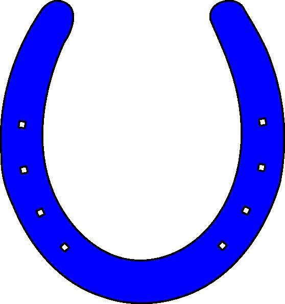 bright blue horseshoe clip art at clker com vector clip art online rh clker com