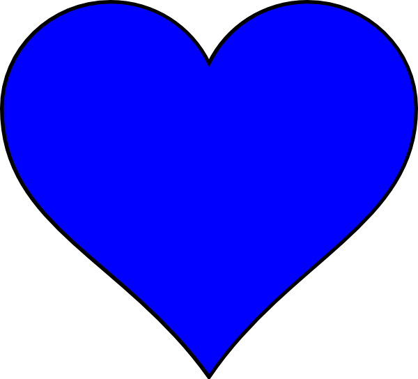 Blue Heart Shape Clip Art at Clker.com - vector clip art ...