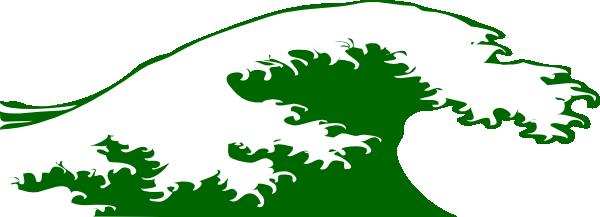 green wave clip art - photo #1