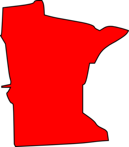 Red Minnesota State Clip Art