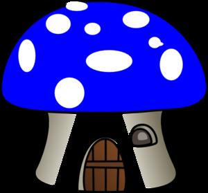Mushroom In Blue Clip Art at Clker.com - vector clip art online ...