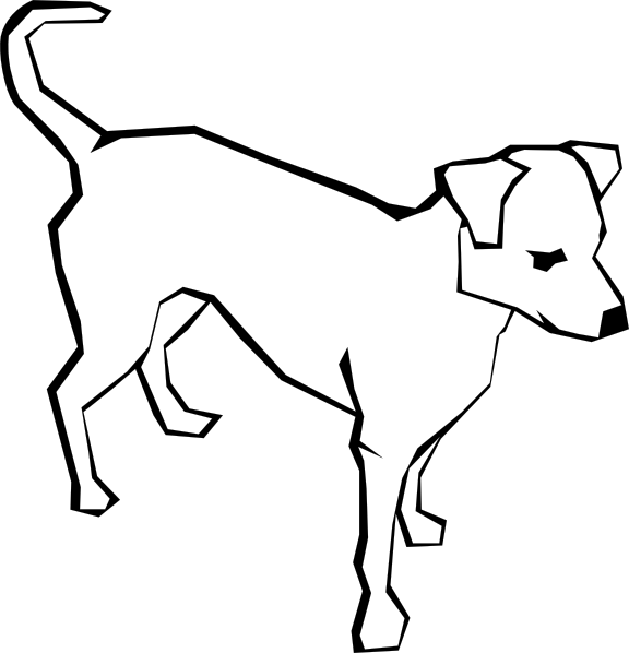 Line Drawing Pet Animals : Dog outline animal clip art at clker vector