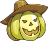 Pumpkin With Hat Clip Art