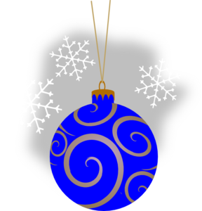 Blue Decorative Ornament Clip Art