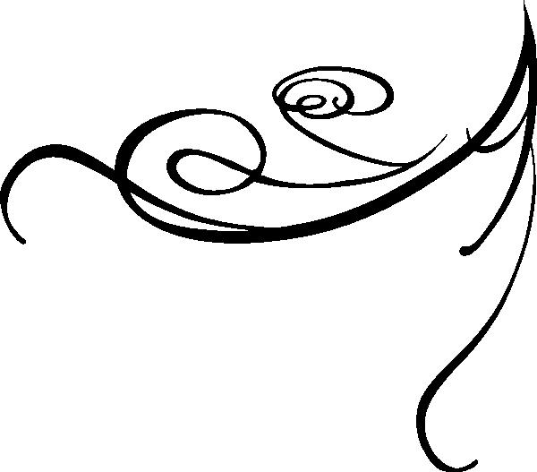 decorative swirl black clip art at clker com vector clip art rh clker com decorative lines clip art borders decorative dividing lines clip art