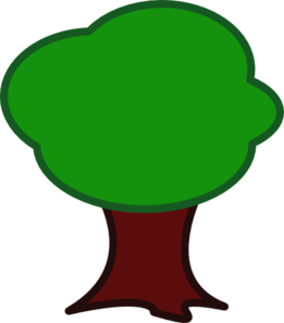 Large Trunk Tree Clip Art
