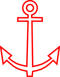 Anchor Red Outline Clip Art