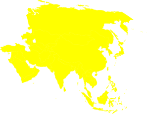 asia continent map