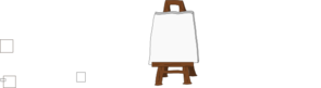 Blank Canvas On Easel Clip Art
