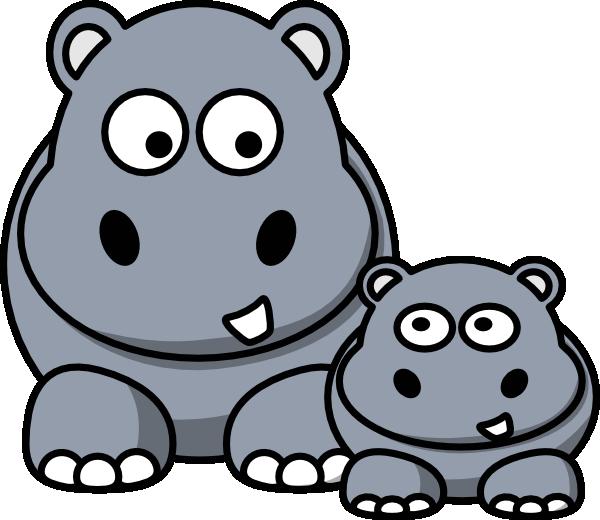 free clip art hippo cartoon - photo #8