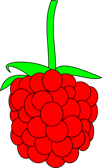 Cartoon Raspberries Simple raspberry clip art