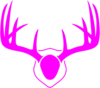 Pink Antlers Clip Art