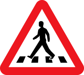 Pedestrian Crossing  Clip Art