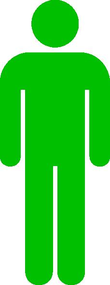 Green Man Toilet Symbol Clip Art at Clker.com - vector clip art online ...