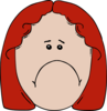 Sad Girl Red Hair Clip Art