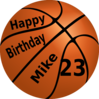 Happy Birthday Basketball Clip Art