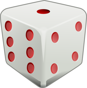 Red Dice Clip Art