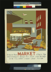 This Is The Market Where The Storekeeper Buys The Food And Brings It To His Store Near Your House Clip Art