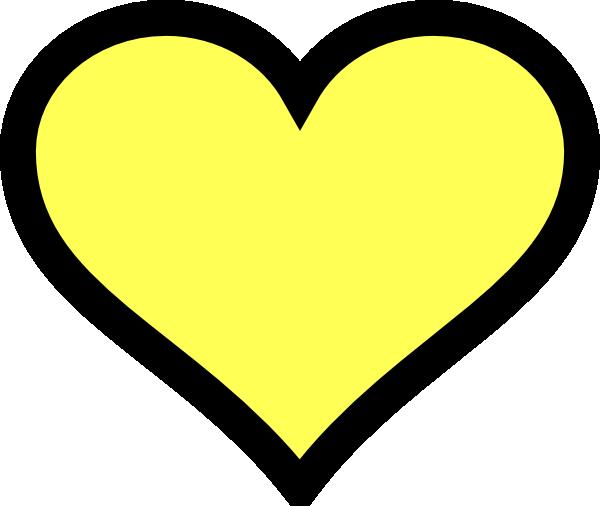 clip art yellow heart - photo #18