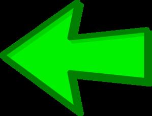 Arrow green. Left clip art at