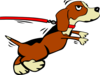 Beagle Big Leash Clip Art