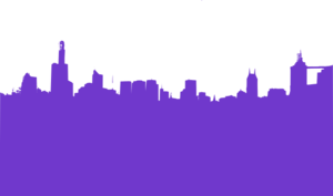 Purple City Clip Art
