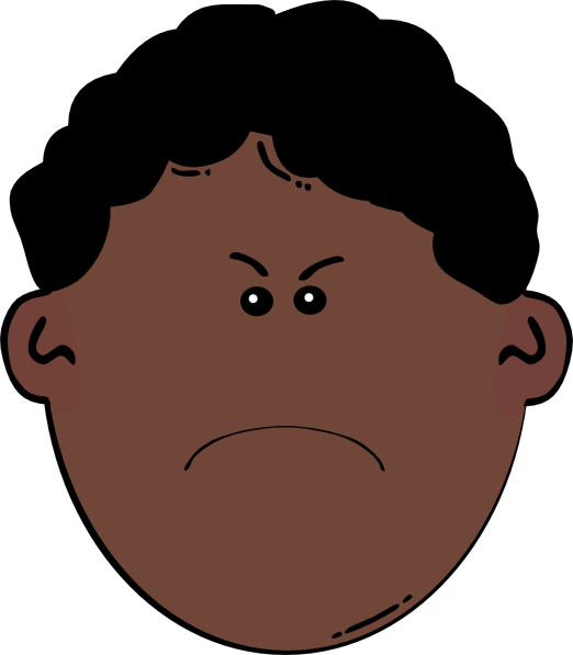 angry kid face clip art - photo #1