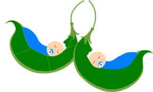 Two Blue Peas In A Pod Clip Art