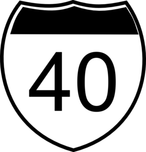 I-40 Sign Clip Art