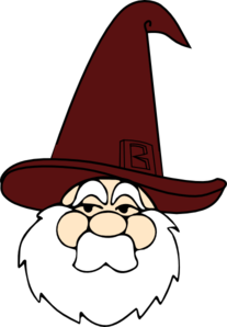 Wizard With Red Hat Clip Art