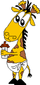 Giraffe Eating Icecream Clip Art