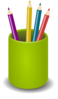Cup Of Pencils Clip Art