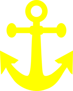 Bright Yellow Anchor Clip Art