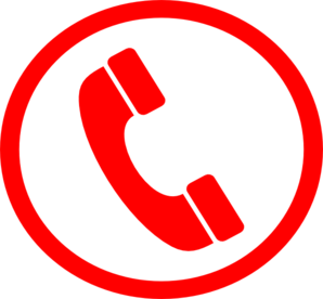 Big Phone Red Clip Art