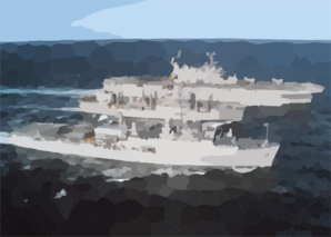 The Auxiliary Fleet Oiler Spica Prepares To Conduct A Simultaneous Refueling At Sea (ras) With Amphibious Assault Ship Uss Saipan (lha 2) And Amphibious Transport Dock Uss Ponce (lpd 15) Clip Art