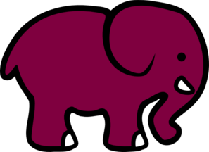 Purple Elephant Clip Art