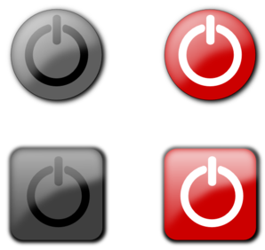Power Off Buttons Clip Art