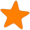 Orange Star Clip Art