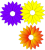 Purple Yellow Flowers Clip Art